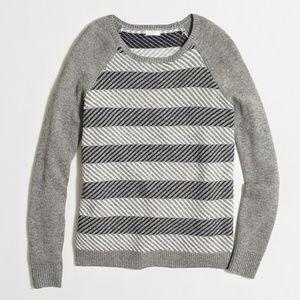 J. Crew Merino Wool Intarsia Zig Zag Sweater Small
